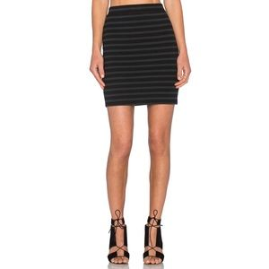 JUST IN! T by Alexander Wang Stretch Stripe Skirt